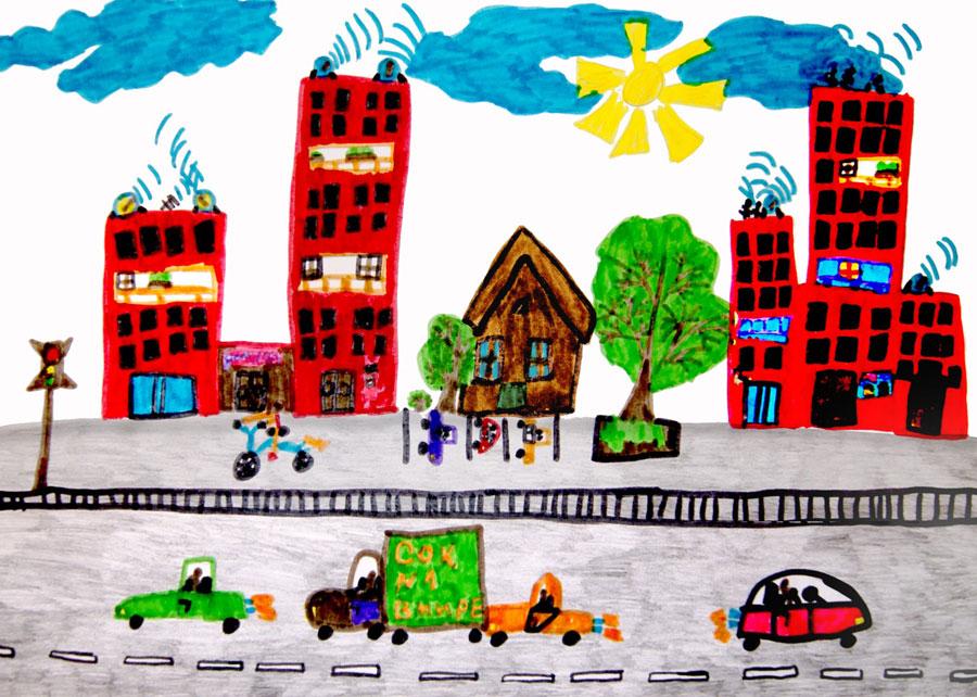Рисунок в городах россии