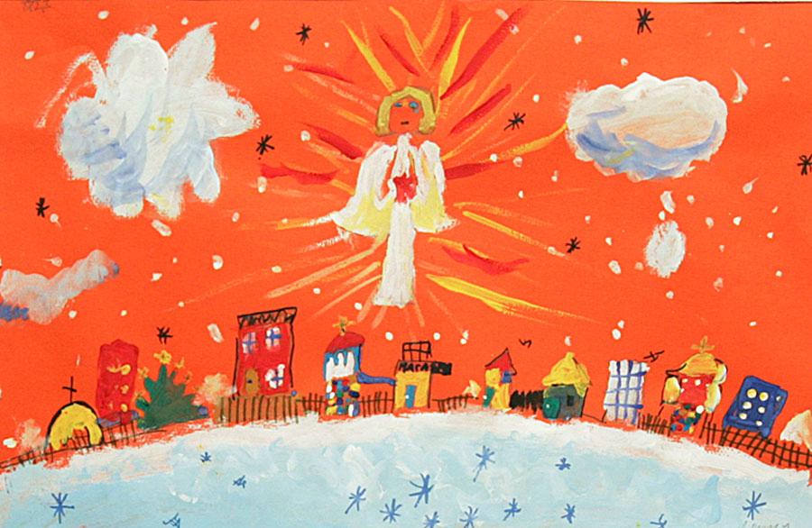 Светлый ангел рождества в иркутской