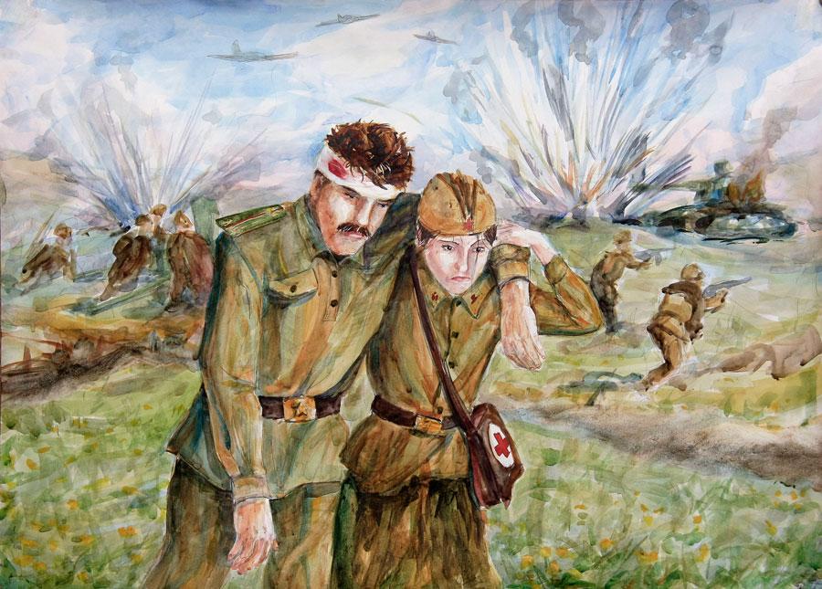 Нарисовать рисунок про войну поэтапно 94