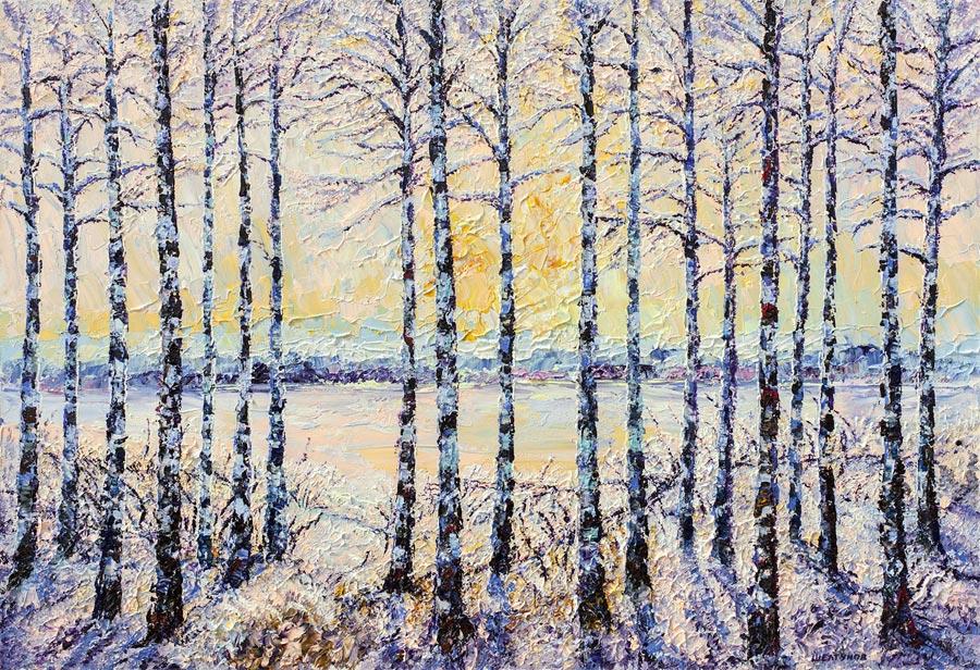 Зимний пейзаж худ никита шелтунов