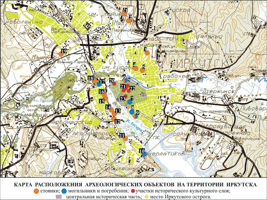 Карта расположения