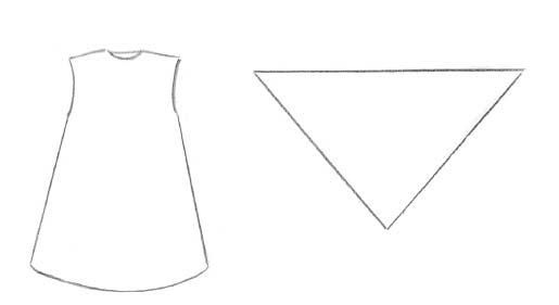 Схема выкройки сарафана и